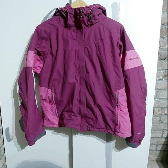 Columbia insulated winter coat pink women's L